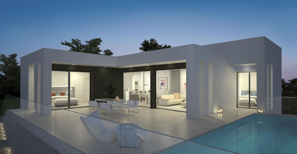 The villas in Magnolias Sunset residential estate are in a privileged location, combining privacy, u, Spain