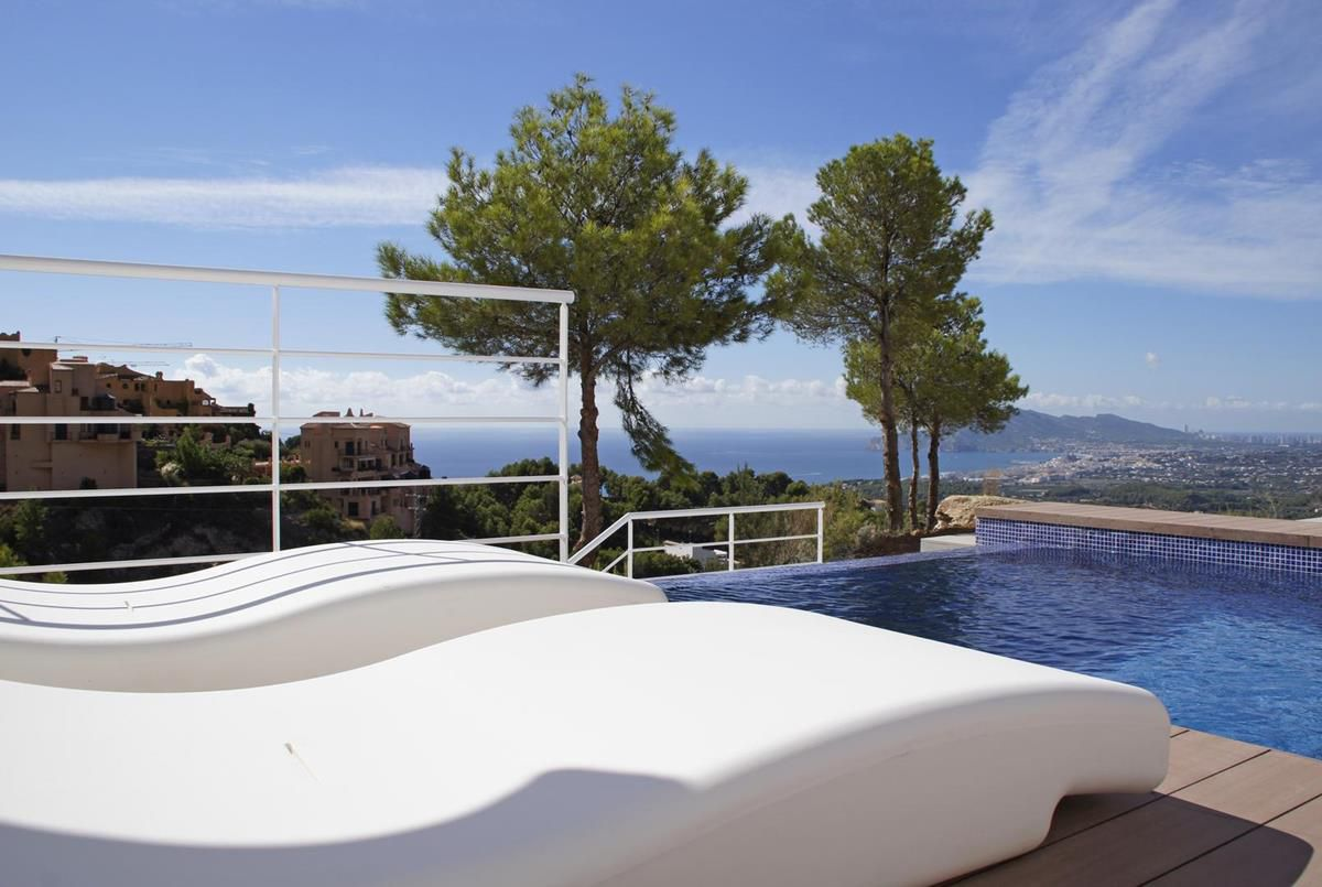 Azure Altea Homes, residential complex comprising five modern style houses with volumetric architect,Spain