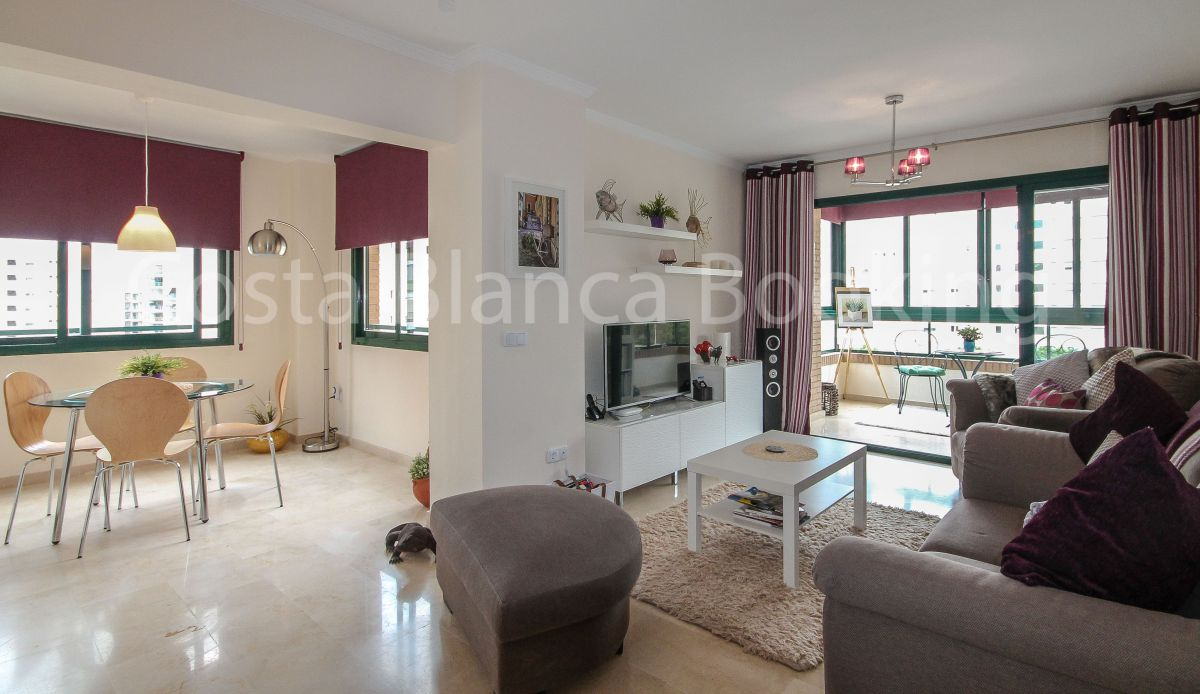 STYLISH newly renovated apartment just steps from the BEACH OF FINESTRAT.