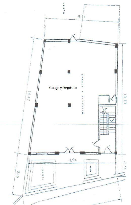 Plano garaje almacen