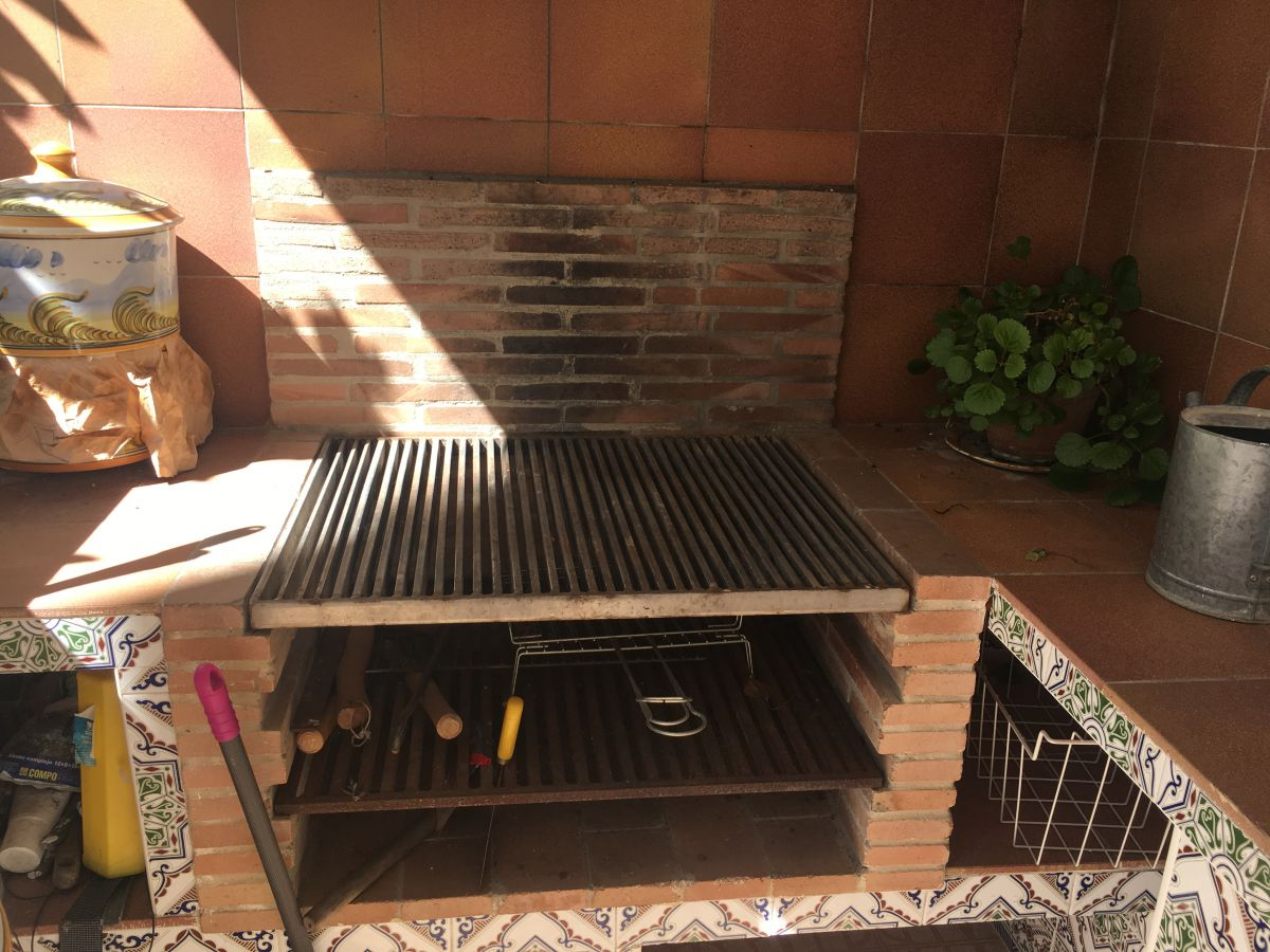 Barbacoa en patio planta